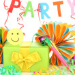 Party decorations isolated on white — Stock Photo