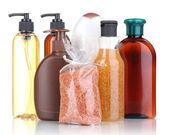 Kosmetika flaskor isolerad på vit — Stockfoto