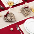 Romantic table setting, close up — Stock Photo