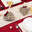 Romantic table setting, close up - Stock Photo