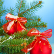 Stock Photo: Beautiful christmas composition on blue background