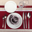 Holiday table setting, close up — Stock Photo #18994673