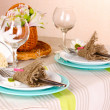Rustic table setting — Stock Photo #19135027