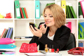 Beautiful young business woman smarten in office — ストック写真