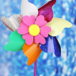 Colored pinwheel on bright background — Stock Photo