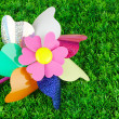 Stock Photo: Colored pinwheel on grass