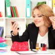 Stock Photo: Beautiful young business womsmarten in office
