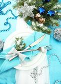 Beautiful christmas setting, close up — Stock Photo