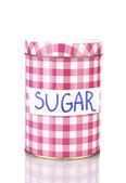 Socker container isolerad på vit — Stockfoto