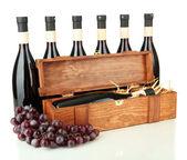 Wine bottles isolated on white — Stock Photo