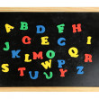 Colorful letters on school board close-up - Foto Stock