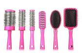 Comb brushes, isolated on white — Stock Photo