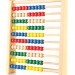 Bright wooden toy abacus, isolated on white - Stock Photo