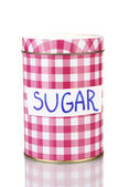 Sugar container isolated on white — Stock Photo