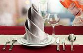 Tatil sofra restoran — Stok fotoğraf