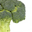 Fresh broccoli close-up isolated on white — Stock Photo