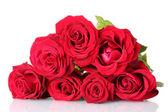 Schönen bouquet von roten rosen auf weissem hintergrund — Stockfoto