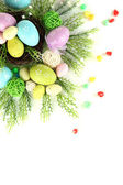 Composition for Easter isolated on white — Stock Photo