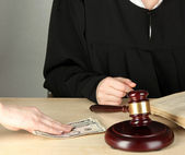 Corruption in court — Stock Photo