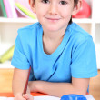 Cute little boy painting in his album — Stock Photo #19783553