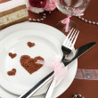 Stock Photo: Holiday table setting close-up