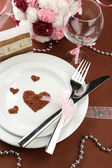 Holiday table setting close-up — Stock Photo