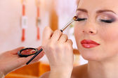 Make up backstage — Stock Photo