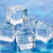 Stock Photo: Ice on brightblue background