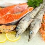 Fresh seafood on ice — Stock Photo #20002151