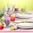 Easter table setting — Stock Photo #20017389