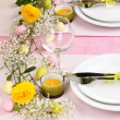 Easter table setting — Stock Photo #20017395