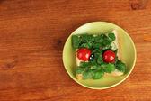 Comida para crianças isoladas em branco do divertimento — Foto Stock
