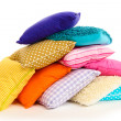 Hill colorful pillows isolated on white — Stock Photo #20056099