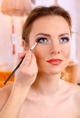 Make up backstage — Stock Photo