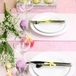 Easter table setting — Stock Photo #20165275