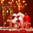 Composition Valentine's Day on lights background — Stock Photo