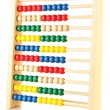 Bright wooden toy abacus, isolated on white — Stock Photo #20318061