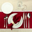 Holiday table setting, close up — Stock Photo #20324867