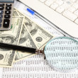 Financial information and money close-up - Stockfoto