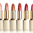 Beautiful lipsticks, isolated on white — Stok fotoğraf