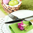 Easter table setting — Foto Stock
