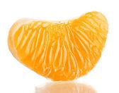 Ripe sweet tangerine clove, isolated on white — Stock Photo
