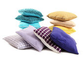 Hills colorful pillows isolated on white — Stock Photo