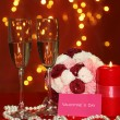 Composition Valentine's Day on lights background - Stockfoto