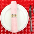 Table setting, close up - Zdjęcie stockowe