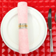 Table setting, close up - Foto Stock