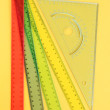 Stock Photo: Rulers on yellow background