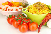 Delicious pilaf with vegetables close up — Stock Photo