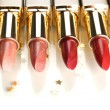 Beautiful lipsticks, isolated on white — Stock Photo