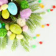 Composition for Easter isolated on white — Стоковая фотография